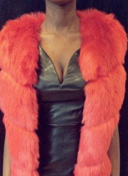 Red Faux Fur Vest - Red Faux Fur Scarf - The Standard Detroit