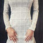 Plaid Peplum Dress - Off The Shoulder Lil Lady - The Standard Detroit