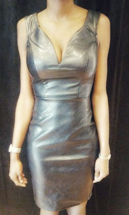Faux Leather Black Sleeveless Dress - The Standard Detroit